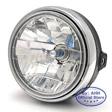 Đèn pha xe máy thông dụng 7 inch 35w, đèn pha lê trong suốt, thủy tinh  trong suốt, đèn pha led tròn chùm tia cho honda cb series màu đèn - Sắp
