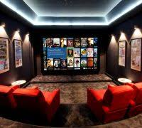 home theater step lighting. Movie Theater Rooms Home Contemporary With Step Display Lights Lighting