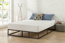 Steel Bedroom Furniture Simple Full Sized Bed Frame Platform Bed Style Metal Frame With