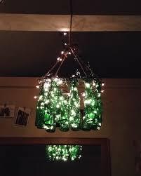diy glass bottle chandelier