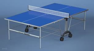 kettler top star xl outdoor table tennis table royalty free 3d model preview no