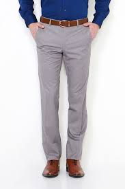 Van Heusen Trousers Size Chart Van Heusen Trousers Chinos Van Heusen Grey Trousers For Men At Vanheusenindia Com