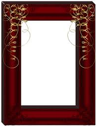 Red Photo Frames Transparent Dark Red Frame Gallery Yopriceville High Quality