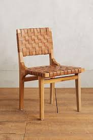 leather loom dining chair