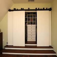 bi fold closet doors closet traditional with barn closet door barn door closet door barn doors bi fold doors home office