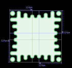 diagram the border image shows a wavy green border with more exaggerated waves towards the