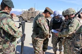 u s department of defense photo essay  u s marines and n and afghan iers look over a map before conducting a patrol near bagram airfield 6 2015