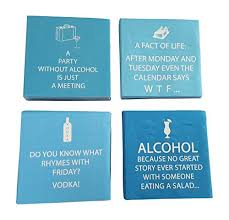 Funny Alcohol Quotes Gorgeous Funny Cocktail Napkins Fun Quotes Blue Variety Pack 48 Total Napkins