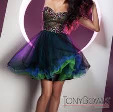 Tony Bowls Iridescent Party Dress