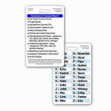 213 x 287 png 8 кб. Hospital Report Guidelines W Phonetic Alphabet Vert Badge Card Emt Ems Medic 640925995748 Ebay