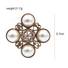 <b>CINDY XIANG</b> New Arrival 2018 Pearl Cross Style Brooches for ...