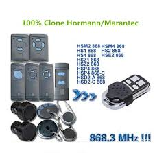 clone hormann hsm2 hormann hsm4 remote control transmitter marantec d302 868 for garage door remote control opener player remote remote controlers from