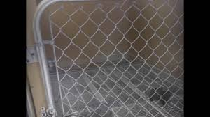 above ground kennels setup for puppies