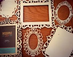laser cut wood frames and plaques