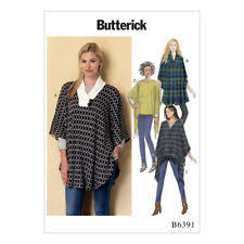 Poncho Sewing Pattern Adorable Ladies Poncho Sewing Pattern 4848 Original Butterick 48 Tie Front