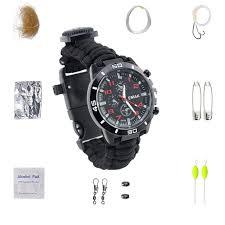 <b>Multifunctional</b> Compass Fishing <b>Survival Watch</b> Gear Bangle ...