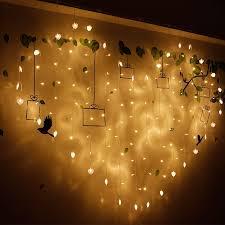 Heart shaped <b>LED</b> fairy string curtain Light 2M*<b>1.5M 124 Leds</b> ...