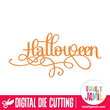 Free spooky halloween word vector download in ai, svg, eps and cdr. Halloween Title Fancy Word Art Totallyjamie Svg Cut Files Graphic Sets Clip Arts