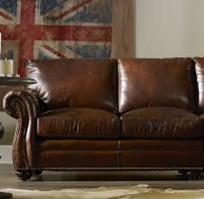Living Room Elegant Leather Sofa Design With Nice Bradington Sofa