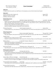 Er Tech Resume Objective - Resume Example 2018 •