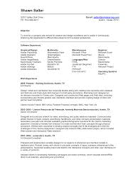 Modeling Resume Template Shawn Salter Objective Work Experience