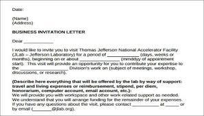 Formal Invite 15 Formal Invitation Letters
