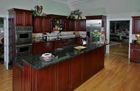 cherry kitchen cabinets black granite. Cherry Cabinets With Crown Molding And Dark Granite Counters. All Light Wood Floors. Kitchen Black E