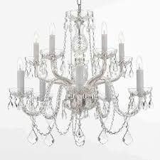 silver chandelier gallery all crystal 10 light silver chandelier zlwzkol