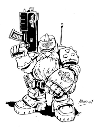 warhammer 40k sketches by nacho fernandez oculoid art design inspiration