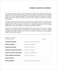 executive summary example business 20 executive summary templates free premium templates