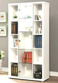 low bookcase with doors short