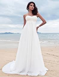 Beaded Chiffon Beach Wedding Dress Autumn Collection The