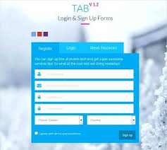 Tab Login Sign Up Forms Download Html Registration Form