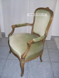 Schöner Barock Sessel Stuhl Antik Grün Samt