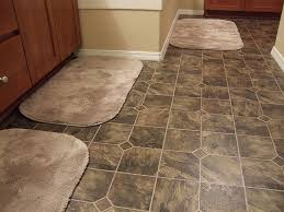 contemporary bath rugs for elegant bathroom design with brown ceramic floor tile installation