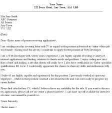 web developer cover letter speculative covering letter examples