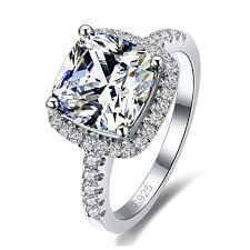 <b>New Arrival 925</b> Sterling Silver Elegance Square Cubic Zirconia ...