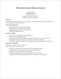 Cover Letter No Work Experience Resume Bank