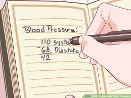 Narrow Pulse Pressure Chart How To Calculate Pulse Pressure 6 Steps With Pictures
