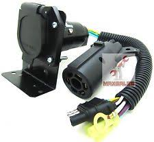 7 way wire 4 flat to 7 way rv trailer light plug wire harness 7 way trailer plug
