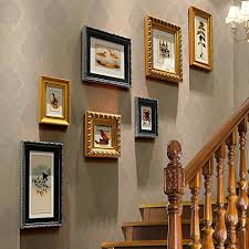 picture frames on wall simple. DENGJU Photo Frames Corridor Black And Yellow Solid Wood Wall Living Room Bedroom Picture On Simple R