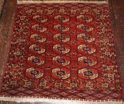 antique tekke turkmen dowry rug of small square size late 19th cent