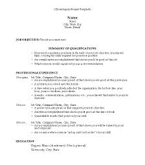 Chronological Resume Template 2 Techtrontechnologies Com