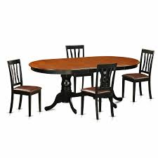 Blackcherry Rubberwood Dining Table With 4 Chairs Pack Of Ebay