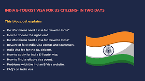 Us - For In 2 E-tourist India Citizens Days Visa