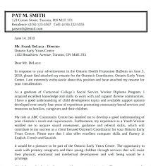 Cover Letter For Social Work Position Cover Letters That Work