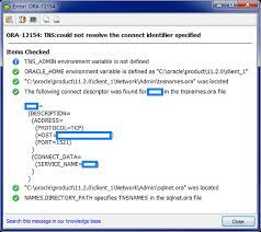unsetting tns admin toad for oracle
