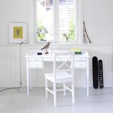 white wood desk chair