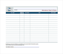 15 Attendance Sheet Templates Free Sample Example Format