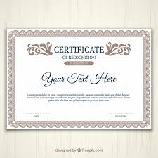 Certificate Templates Free Download Vector Pages Certificate